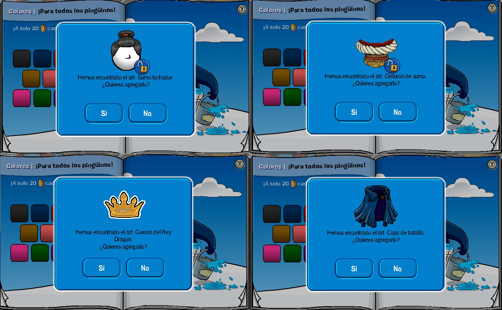 hack de ropa club penguin p gina web de ayudaclubpenguin. Black Bedroom Furniture Sets. Home Design Ideas